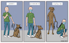 Cartoon: Dogs vs men covid19 (small) by matan_kohn tagged illustration,comics,comicsstrip,corona,covid19,toon,funny,funnydogs,dog,dogs,dogslover,animals