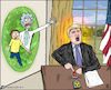 Cartoon: Donald trump rick and morty (small) by matan_kohn tagged rickandmorty,rick,and,morty,tvshow,iran,israel,animation,war,worldwar3,donaldtrump,donald,trump,button,nuclear,atomicbomb,caricature,funny,usa,illustration,artwork,digitalart,politics,scarry,future