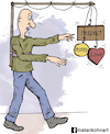 Cartoon: The meaning of life (small) by matan_kohn tagged caricature,funny,illustration,love,respect,walking,work,money