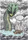 Cartoon: Wickies Malbuch (small) by Dirk Berrens tagged wickies,malbuch,schwert,oder,paddel,wickinger,meer,ungeheuer,meeresungeheuer,dirk,berrens,coloring,sword,or,paddle,sea,monster