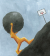 Cartoon: Sisyphus 4 (small) by Davor tagged sisyphos,anstrengung,philosophy,rock,hill,mountain,up,effort