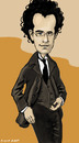 Cartoon: Gustav Mahler (small) by frostyhut tagged german,composer,mahler,suit,glasses,curly,music,caricature