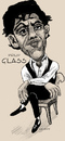 Cartoon: Philip Glass (small) by frostyhut tagged philip,glass,composer,american,film,score,music