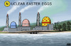Cartoon: Nuclear Eggs (small) by flintstone73 tagged eastern,ostern,nuclear,eggs,eier,fukushima,meltdown,kernschmelze