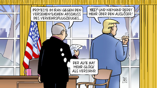Cartoon: Auslöser (medium) by Harm Bengen tagged protest,iran,irak,usa,oval,office,versehentlicher,abschuss,verkehrsflugzeuges,ukraine,auslöser,glück,verstand,kriegsgefahr,harm,bengen,cartoon,karikatur,protest,iran,irak,usa,oval,office,versehentlicher,abschuss,verkehrsflugzeuges,ukraine,auslöser,glück,verstand,kriegsgefahr,harm,bengen,cartoon,karikatur