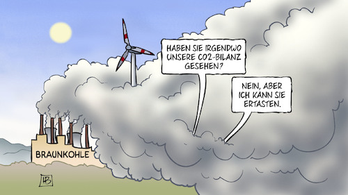 Cartoon: Braunkohle-Ausstieg (medium) by Harm Bengen tagged kohlekommission,pofalla,braunkohle,co2,bilanz,strom,energie,altenative,energien,windkraft,solarenergie,sonnenenergie,energiewende,harm,bengen,cartoon,karikatur,kohlekommission,pofalla,braunkohle,co2,bilanz,strom,energie,altenative,energien,windkraft,solarenergie,sonnenenergie,energiewende,harm,bengen,cartoon,karikatur