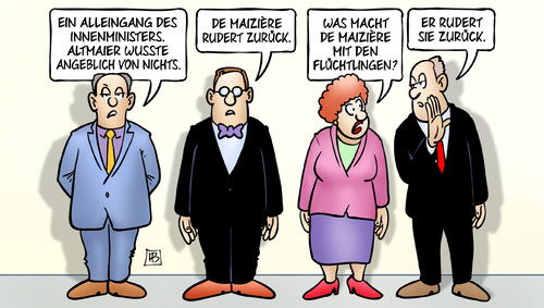 Cartoon: De Maiziere rudert (medium) by Harm Bengen tagged rudern,demaiziere,altmaier,innenministers,alleingang,csu,cdu,koalition,groko,asylkompromiss,registrierungszentrum,asylverfahren,beschleunigte,karikatur,cartoon,bengen,harm,fluechtlinge,asyl,spd,alleingang,innenministers,altmaier,demaiziere,rudern,beschleunigte,asylverfahren,registrierungszentrum,asylkompromiss,groko,koalition,cdu,csu,spd,asyl,fluechtlinge,harm,bengen,cartoon,karikatur