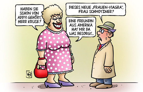 Cartoon: Frauen-Viagra (medium) by Harm Bengen tagged addyi,frauen,freundin,amerika,usa,medizin,medikament,flibanserin,erotik,harm,bengen,cartoon,karikatur,addyi,frauen,viagra,freundin,amerika,usa,medizin,medikament,flibanserin,erotik,sex,harm,bengen,cartoon,karikatur