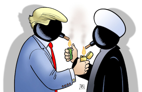 Cartoon: Golf-Feuer (medium) by Harm Bengen tagged trump,ruhani,golf,gulf,hormus,tanker,oil,öl,usa,iran,bombe,sanktionen,rauchen,smoke,feuer,fire,krieg,war,harm,bengen,cartoon,karikatur,trump,ruhani,golf,gulf,hormus,tanker,oil,öl,usa,iran,bombe,sanktionen,rauchen,smoke,feuer,fire,krieg,war,harm,bengen,cartoon,karikatur