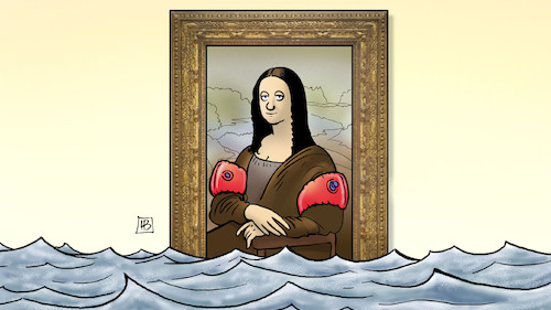 Cartoon: Paris-Hochwasser (medium) by Harm Bengen tagged paris,louvre,mona,lisa,hochwasser,harm,bengen,cartoon,karikatur,paris,louvre,mona,lisa,hochwasser,harm,bengen,cartoon,karikatur