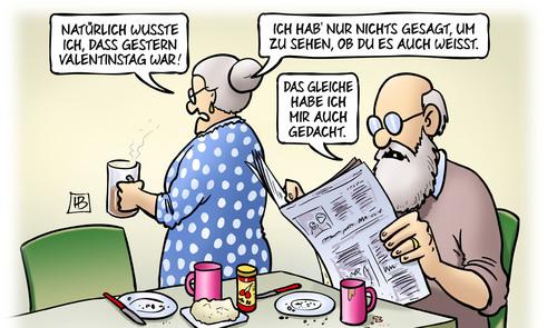 Valentinstag-Nachlese de Harm Bengen | Philosophie Cartoon | TOONPOOL