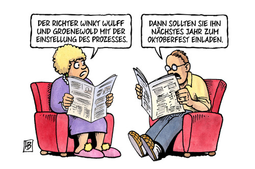 Cartoon: Wulff-Verfahren (medium) by Harm Bengen tagged richter,wulff,bundespraesident,groenewold,einstellung,prozess,oktoberfest,einladung,korruption,strafrecht,harm,bengen,cartoon,karikatur,richter,wulff,bundespraesident,groenewold,einstellung,prozess,oktoberfest,einladung,korruption,strafrecht,harm,bengen,cartoon,karikatur