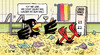 Cartoon: 21 Mrd. Überschuss (small) by Harm Bengen tagged überschuss,staatseinnahmen,steuern,konjunktur,bundesadler,geld,dagobert,duck,wasser,hals,harm,bengen,cartoon,karikatur