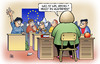 Cartoon: Austreten (small) by Harm Bengen tagged austreten,kostas,merkel,lehrerin,griechenland,deutschland,holland,frankreich,eu,europa,euro,schulden,krise,schule,schueler,eurozone,verlassen