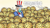 Cartoon: Bällebad USA (small) by Harm Bengen tagged uncle sam bällebad corona pandemie usa harm bengen cartoon karikatur