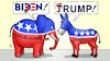 Cartoon: Biden-links Trump-rechts (small) by Harm Bengen tagged biden,links,trump,rechts,usa,wahlen,demokraten,republikaner,esel,elefant,hakenkreuz,hammer,sichel,harm,bengen,cartoon,karikatur