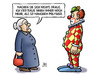Cartoon: Clown-Vertrauen (small) by Harm Bengen tagged politiker,horrorclowns,vertrauen,susemil,harm,bengen,cartoon,karikatur