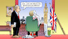 Cartoon: Davis wirft das Handtuch (small) by Harm Bengen tagged brexit,minister,davis,zurückgetreten,may,uk,gb,handtuch,harm,bengen,cartoon,karikatur