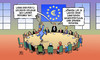 Cartoon: Euro-Gruppe zu Portugal (small) by Harm Bengen tagged euro,gruppe,portugal,europa,eu,kollege,beruhigen,sanktionen,spanien,defizit,harm,bengen,cartoon,karikatur
