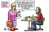 Cartoon: Frauenquote Version1 (small) by Harm Bengen tagged frauenquote,karikaturen,deutscher,michel,michaela,zeichnen,dax,konzerne,gleichberechtigung,feminismus,harm,bengen,cartoon,karikatur