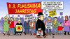 Cartoon: Fukushima-Jahrestag (small) by Harm Bengen tagged fukushima,jahrestag,atomkraft,kernkraft,akw,gorleben,endlager,energiewende,strom,windkraft,wasserkraft,protest,demonstrationen