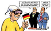 Cartoon: Lena-Brille (small) by Harm Bengen tagged lena meyer landrut brille mania oslo sieg eurovision song contest satellite raab deutschland fahne wm durchblicken verblendet abgelenkt taeuschen wirkung regierung
