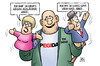 Cartoon: Pegida aber (small) by Harm Bengen tagged demonstranten,demonstration,pegida,deutsch,ausländer,migranten,integration,nazi,rechts,faschisten,harm,bengen,cartoon,karikatur