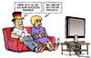 Cartoon: Russische Fanmeile (small) by Harm Bengen tagged russische,fanmeile,fussball,em,europameisterschaft,tv,fans,russland,prosteste,demonstrationen,pution,praesident,wahlfaelschung,lupenreiner,demokrat,opposition
