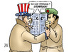 Cartoon: Spionage China-USA (small) by Harm Bengen tagged spionage,china,usa,nsa,internet,wirtschaftsspionage,hacker,it,computer,harm,bengen,cartoon,karikatur