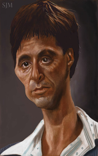 Cartoon: Al Pacino (medium) by jonesmac2006 tagged caricature
