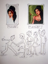 Cartoon: Amy Winehouse (small) by Sanni tagged amy,winehouse