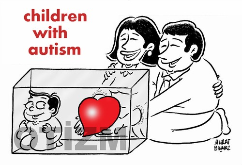Cartoon: children with autism (medium) by Murat tagged autism,chidren