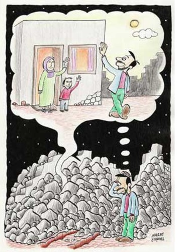 Cartoon: Earthquake (medium) by Murat tagged earthquake