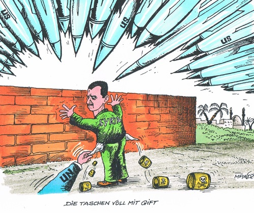 Cartoon: Giftiger Assad (medium) by mandzel tagged assad,giftgas,un,usa,raketen,syrien,assad,giftgas,un,usa,raketen,syrien