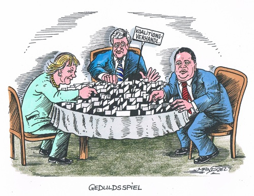 Cartoon: Koalitionsverhandlungen (medium) by mandzel tagged cdu,csu,spd,merkel,seehofer,gabriel,irrgarten,koalition,cdu,csu,spd,merkel,seehofer,gabriel,irrgarten,koalition