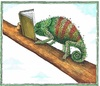 Cartoon: Buchmesse (small) by mandzel tagged buchmesse,chamäleon,buch,buchstaben
