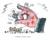 Cartoon: Es wird eng um Assad (small) by mandzel tagged syrien,assad,zuspitzung,der,situation