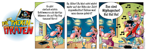 Cartoon: Die Thekenpiraten 98 (medium) by stefanbayer tagged theke,piraten,thekenpiraten,lifestyle,vollbart,cool,bier,wein,alkohol,hiphop,hipster,jugendkultur,männer,bart,tanzen,gastronomie,stefanbayer