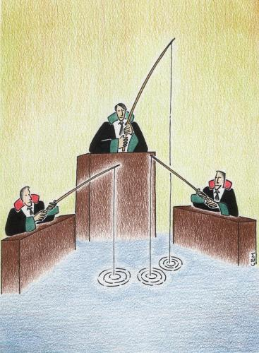 Cartoon: judgement (medium) by cemkoc tagged cem,karikatürleri,hukuk,cartoons,law,ko,justice,judge,judicial,court,judgement,tribunal,supreme,lex,jurisdiction,legal,gesetz,richter,adalet,hakim,mahkeme,robe,wig,defendant,prosecutor,koc,magistrate,judgeship