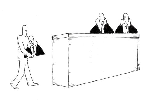Cartoon: judge (medium) by cemkoc tagged juridiction,la,cour,droit,legal,richter,attorney,lawyer,prosecutor,public,prosecution,tribunal,trial,defendant,last,court,supreme,justice,judicial,judge,judgement,cartoons,law,karikatürleri,hukuk,le,juge,abogado