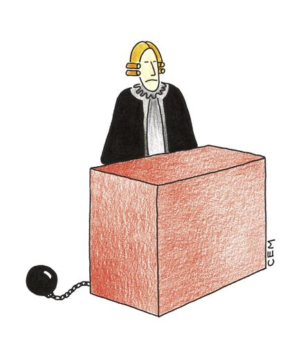 Cartoon: JUDGE (medium) by cemkoc tagged court,judge,justice,law