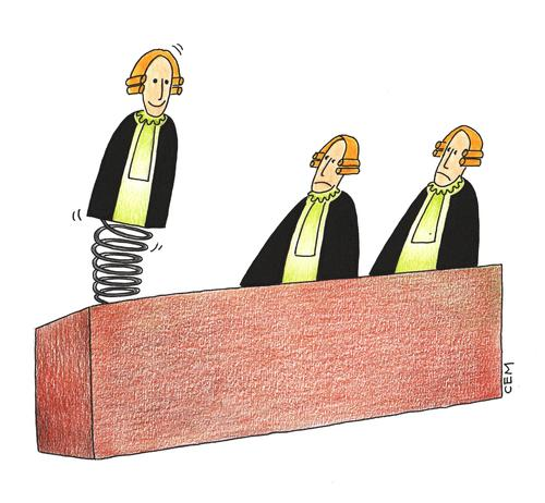 Cartoon: judge (medium) by cemkoc tagged judge,court,justice,law