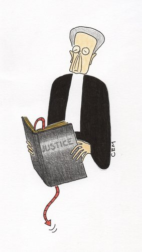 Cartoon: Pour Jacques Verges (medium) by cemkoc tagged jacques,verges,court,judgement,judge,judicial,justice,law,supreme,last,defendant,trial,tribunal,prosecution,public,prosecutor,lawyer,attorney,richter,legal,droit,cour,la,juridiction,le,juge,abogado,defense