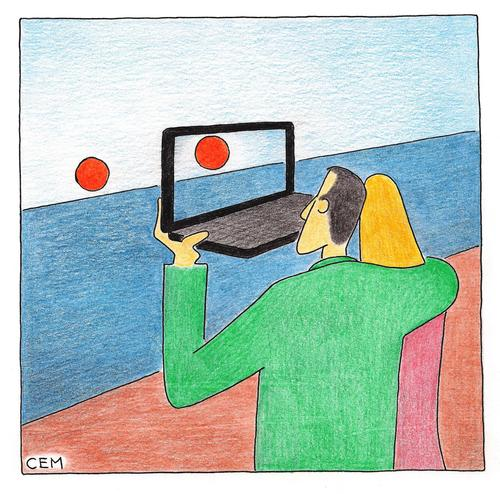 Cartoon: technology (medium) by cemkoc tagged koc,cem,technology