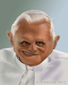 Cartoon: Benedict XVI (small) by StudioCandia tagged caricature,pope