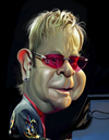 Cartoon: Elton John (small) by rocksaw tagged elton,john,caricature,study