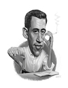Cartoon: J.D. Salinger (small) by rocksaw tagged jd,salinger