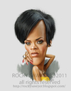 Cartoon: Robyn Rihanna Fenty (small) by rocksaw tagged robyn,rihanna,fenty
