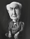 Cartoon: Thomas Edison (small) by rocksaw tagged thomas,edison
