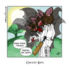Cartoon: Cricket Bats (small) by gothink tagged cartoon,comic,spelling,pun,cricket,bats